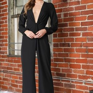 Other - Black deep V Jumpsuit